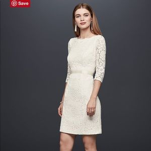 White Lace Engagement Party/Bridal Shower Dress
